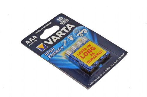 Varta Battery alkaline AAA/LR03 1.5 V High Energy 4-blister MN2400